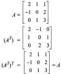 RBSE Solutions for Class 12 Maths Chapter 3 Additional Questions 12.1