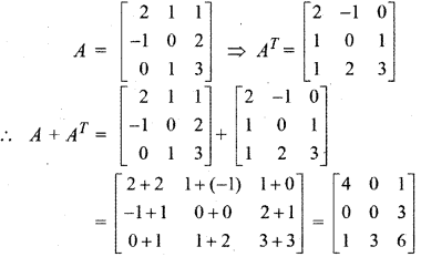 RBSE Solutions for Class 12 Maths Chapter 3 Additional Questions 12.2