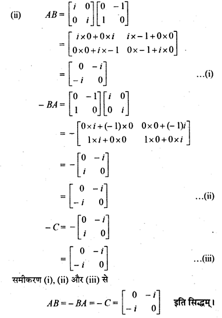 RBSE Solutions for Class 12 Maths Chapter 3 Additional Questions 22.3