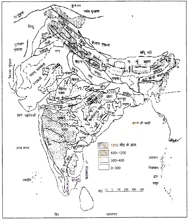 UP Board Solutions for Class 9 Social Science Geography Chapter 2 भारत का भौतिक स्वरूप
