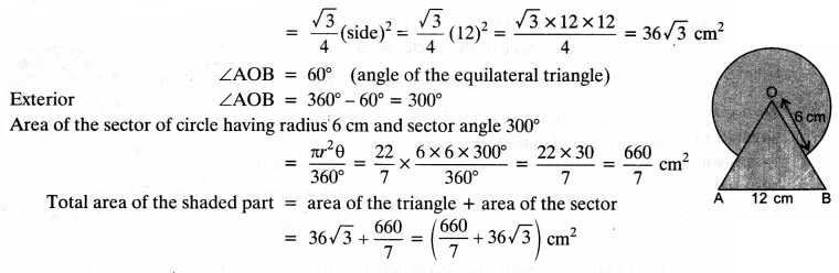 NCERT Solutions for Class 10 Maths Chapter 12 Areas Related to Circles Ex 12.3 3