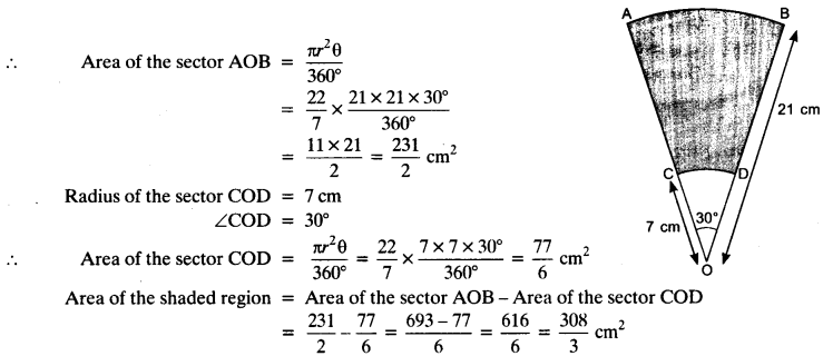 NCERT Solutions for Class 10 Maths Chapter 12 Areas Related to Circles Ex 12.3 21