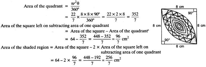 NCERT Solutions for Class 10 Maths Chapter 12 Areas Related to Circles Ex 12.3 24