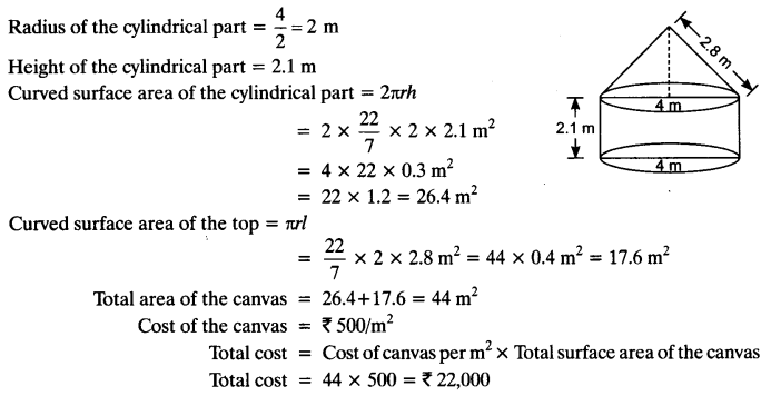 NCERT Solutions for Class 10 Maths Chapter 13 Surface Areas and Volumes Ex 13.1 10
