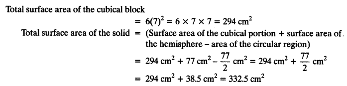 NCERT Solutions for Class 10 Maths Chapter 13 Surface Areas and Volumes Ex 13.1 5