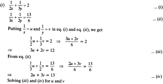 NCERT Solutions for Class 10 Maths Chapter 3 Pair of Linear Equations in Two Variables Ex 3.6 2