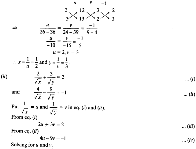NCERT Solutions for Class 10 Maths Chapter 3 Pair of Linear Equations in Two Variables Ex 3.6 3