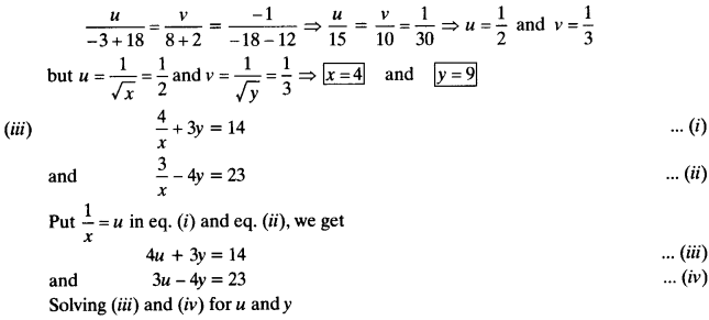 NCERT Solutions for Class 10 Maths Chapter 3 Pair of Linear Equations in Two Variables Ex 3.6 5