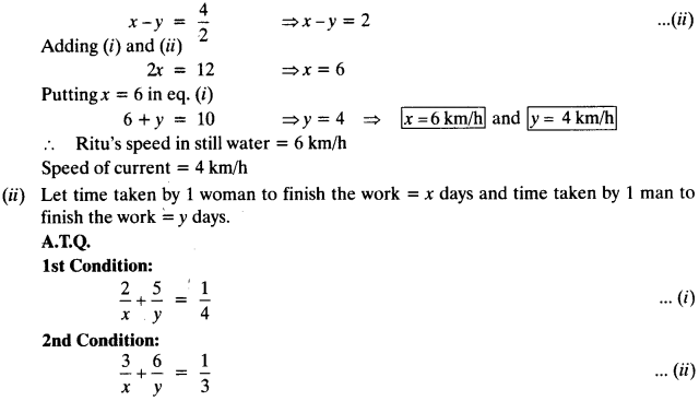 NCERT Solutions for Class 10 Maths Chapter 3 Pair of Linear Equations in Two Variables Ex 3.6 15