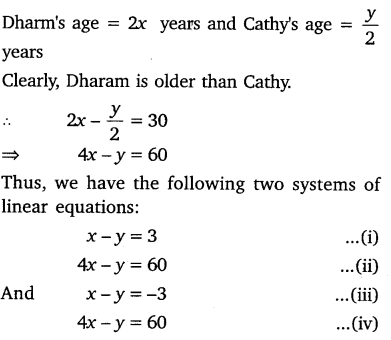 NCERT Solutions for Class 10 Maths Chapter 3 Pair of Linear Equations in Two Variables Ex 3.7 Q1