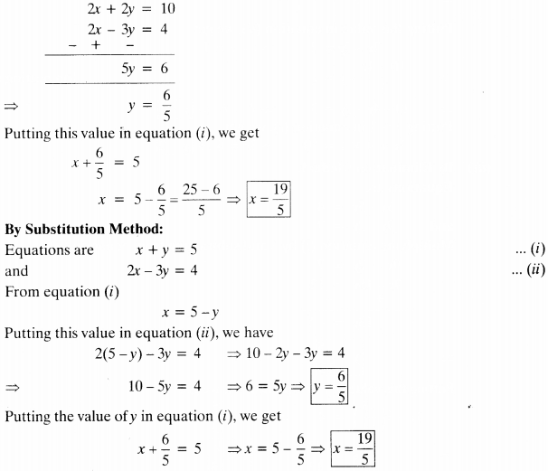 NCERT Solutions for Class 10 Maths Chapter 3 Pair of Linear Equations in Two Variables Ex 3.4 1