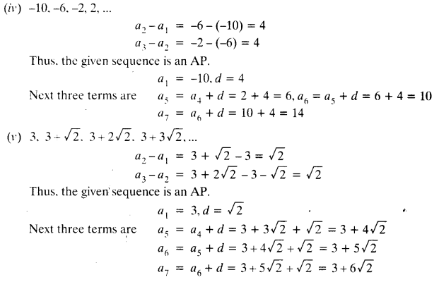 NCERT Solutions for Class 10 Maths Chapter 5 Arithmetic Progressions Ex 5.1 4
