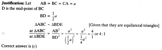 NCERT Solutions for Class 10 Maths Chapter 6 Triangles Ex 6.4 12