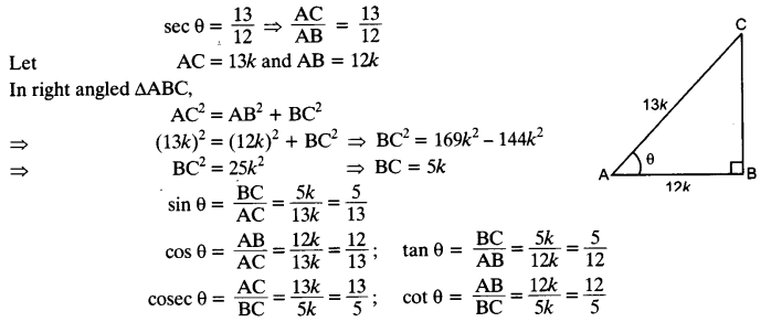 NCERT Solutions for Class 10 Maths Chapter 8 Introduction to Trigonometry Ex 8.1 6