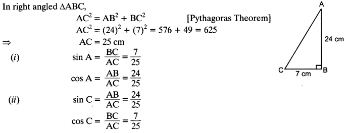 NCERT Solutions for Class 10 Maths Chapter 8 Introduction to Trigonometry Ex 8.1 1