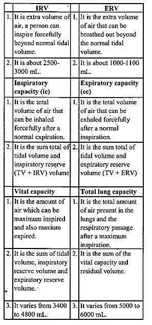 NCERT Solutions for Class 11 Biology Chapter 17 Breathing and Exchange of Gases 4