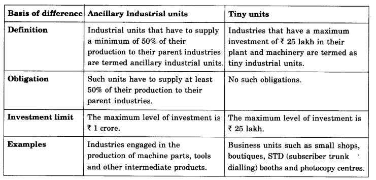 NCERT Solutions For Class 11 Business Studies Small Business SAQ Q3