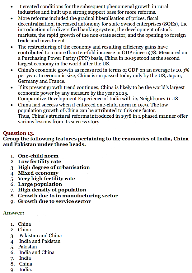 NCERT Solutions for Class 11 Chapter 10 Comparative Development Experience of India with its Neighbours 7