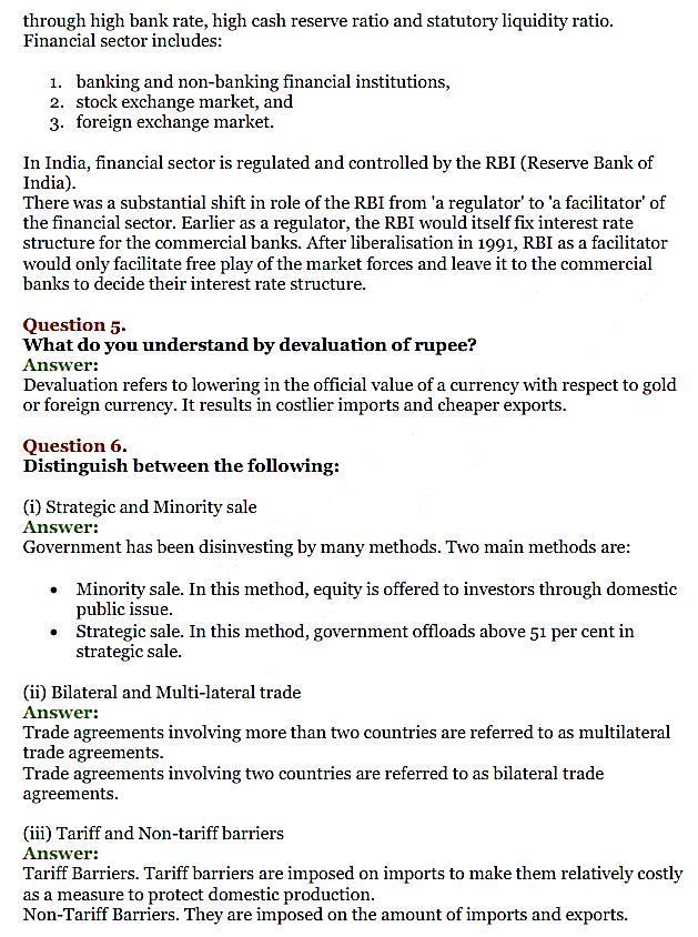 NCERT Solutions for Class 11 Chapter 3 Liberalisation, Privatisation and Globali 2