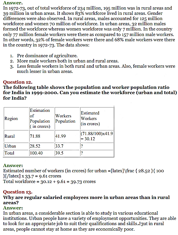 NCERT Solutions for Class 11 Chapter 7 Employment-Growth, Informalisation and Related Issues 3