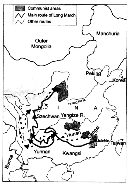 NCERT Solutions for Class 11 History Chapter 11 Paths to Modernization Map Skills Q1