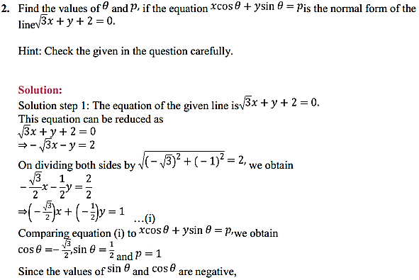 NCERT Solutions for Class 11 Maths Chapter 10 Straight Lines Miscellaneous Exercise 3