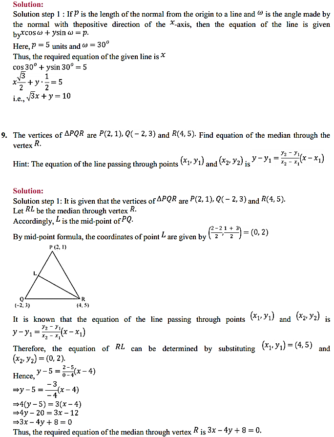 NCERT Solutions for Class 11 Maths Chapter 10 Straight Lines 10.2 4