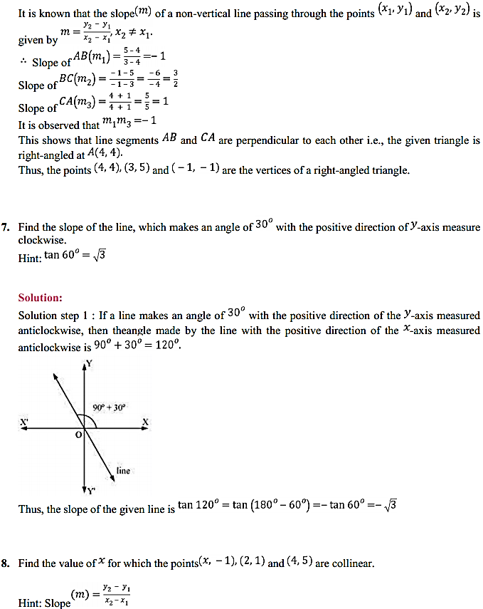 NCERT Solutions for Class 11 Maths Chapter 10 Straight Lines 10.2 6