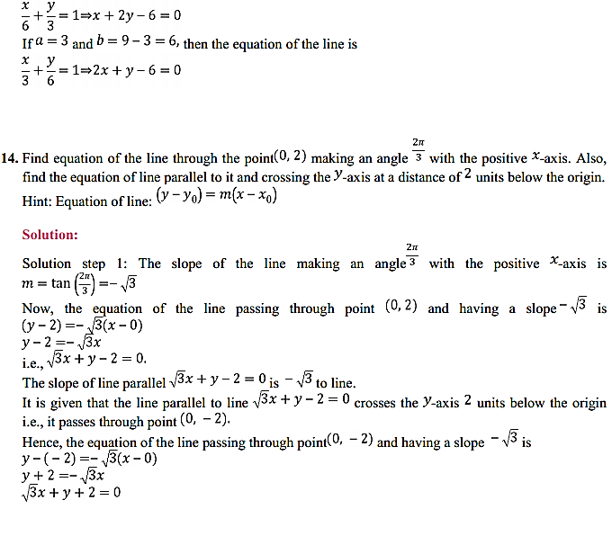NCERT Solutions for Class 11 Maths Chapter 10 Straight Lines 10.2 8