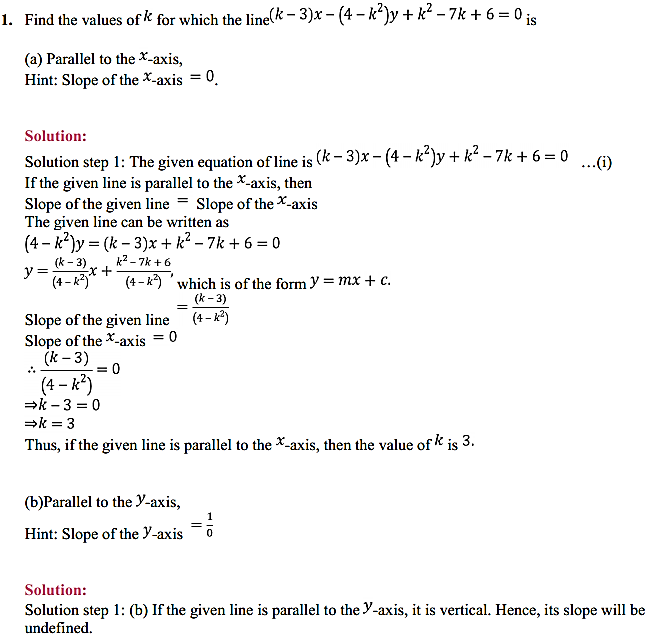 NCERT Solutions for Class 11 Maths Chapter 10 Straight Lines Miscellaneous Exercise 1