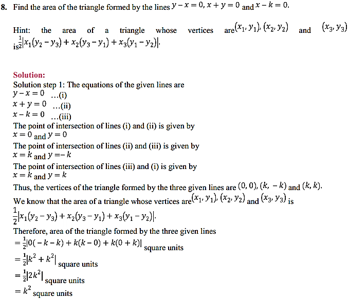 NCERT Solutions for Class 11 Maths Chapter 10 Straight Lines Miscellaneous Exercise 11
