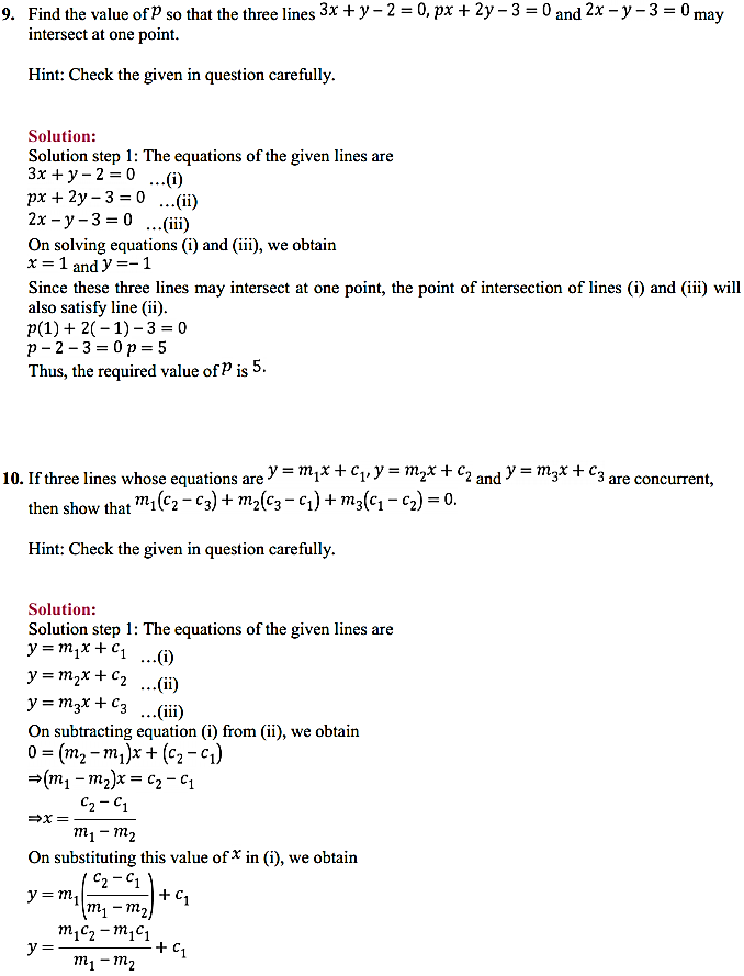 NCERT Solutions for Class 11 Maths Chapter 10 Straight Lines Miscellaneous Exercise 12