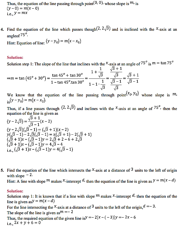 NCERT Solutions for Class 11 Maths Chapter 10 Straight Lines 10.2 2