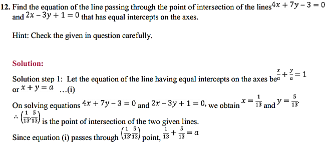NCERT Solutions for Class 11 Maths Chapter 10 Straight Lines Miscellaneous Exercise 15