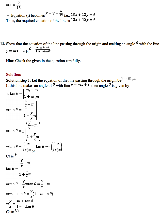 NCERT Solutions for Class 11 Maths Chapter 10 Straight Lines Miscellaneous Exercise 16