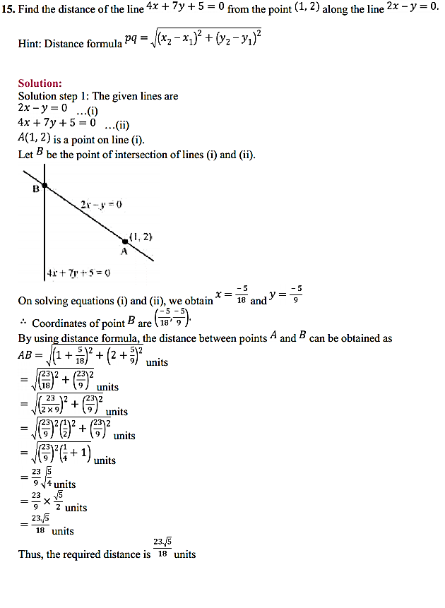 NCERT Solutions for Class 11 Maths Chapter 10 Straight Lines Miscellaneous Exercise 19