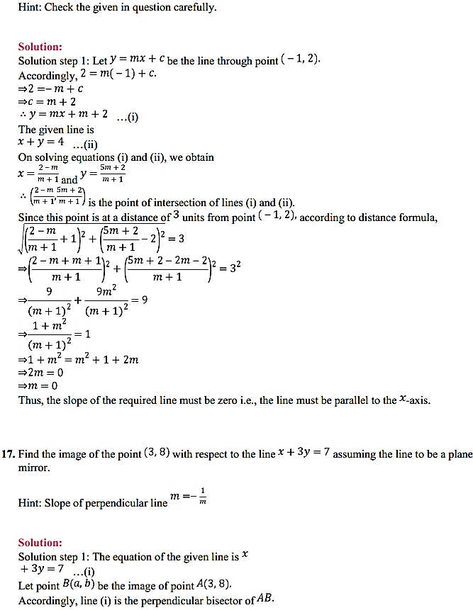 NCERT Solutions for Class 11 Maths Chapter 10 Straight Lines Miscellaneous Exercise 21
