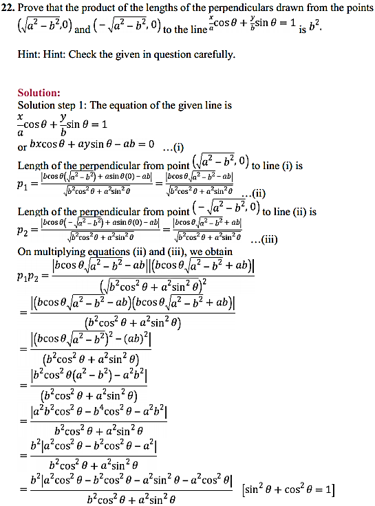 NCERT Solutions for Class 11 Maths Chapter 10 Straight Lines Miscellaneous Exercise 31