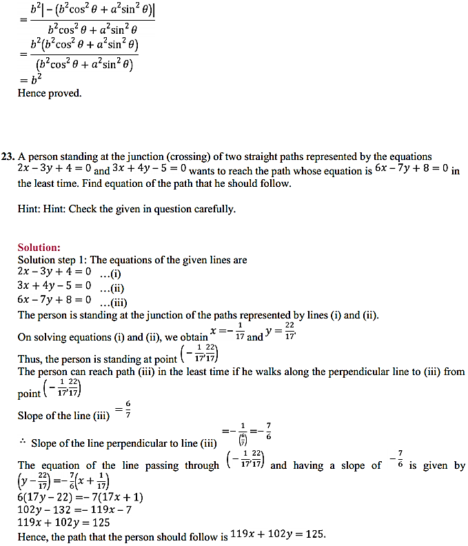 NCERT Solutions for Class 11 Maths Chapter 10 Straight Lines Miscellaneous Exercise 32