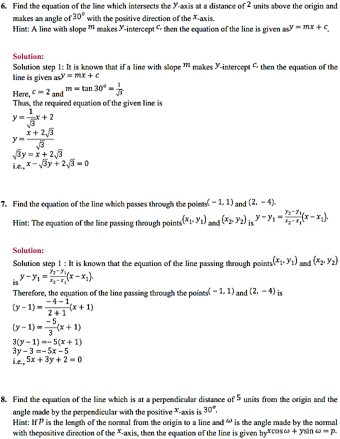 NCERT Solutions for Class 11 Maths Chapter 10 Straight Lines 10.2 3