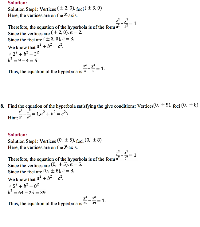 NCERT Solutions for Class 11 Maths Chapter 11 Conic Sections Ex 11.4 8