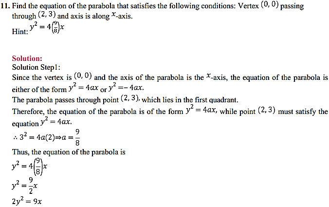 NCERT Solutions for Class 11 Maths Chapter 11 Conic Sections Ex 11.2 9