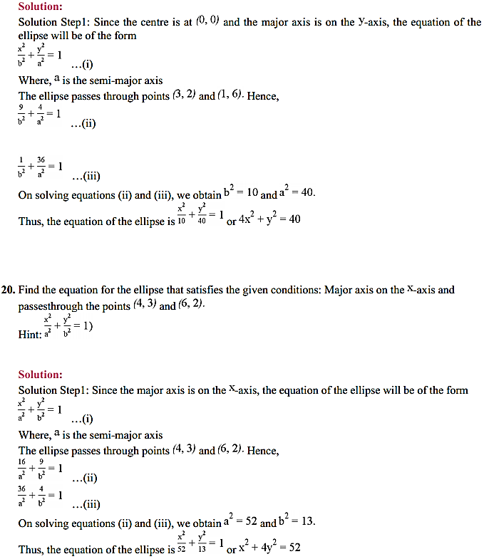 NCERT Solutions for Class 11 Maths Chapter 11 Conic Sections Ex 11.2 22
