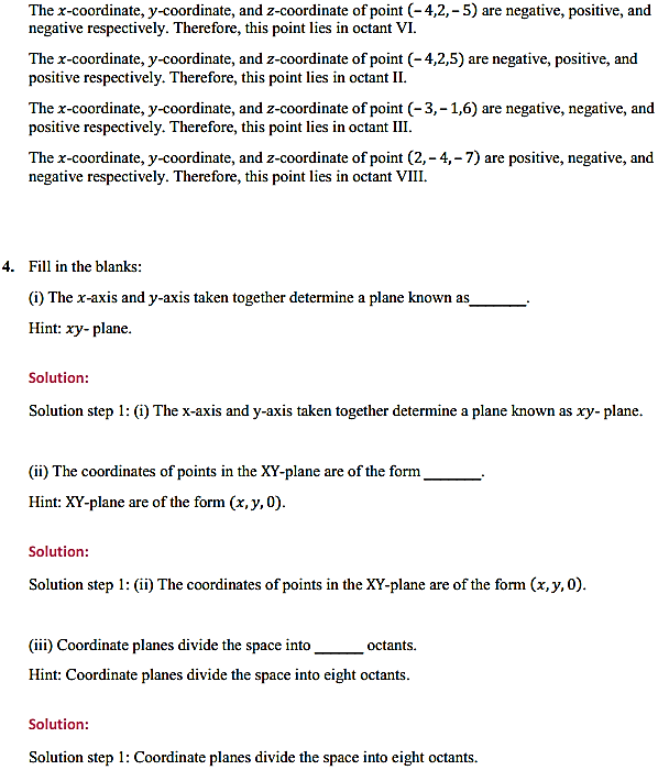 NCERT Solutions for Class 11 Maths Chapter 12 Introduction to three Dimensional Geometry Ex 12.1 2