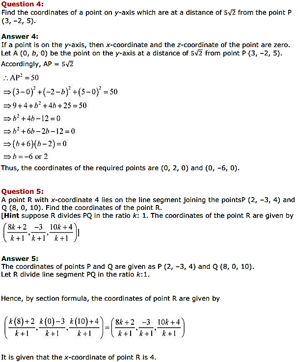 NCERT Solutions for Class 11 Maths Chapter 12 Introduction to three Dimensional Geometry Miscellaneous Exercise 4