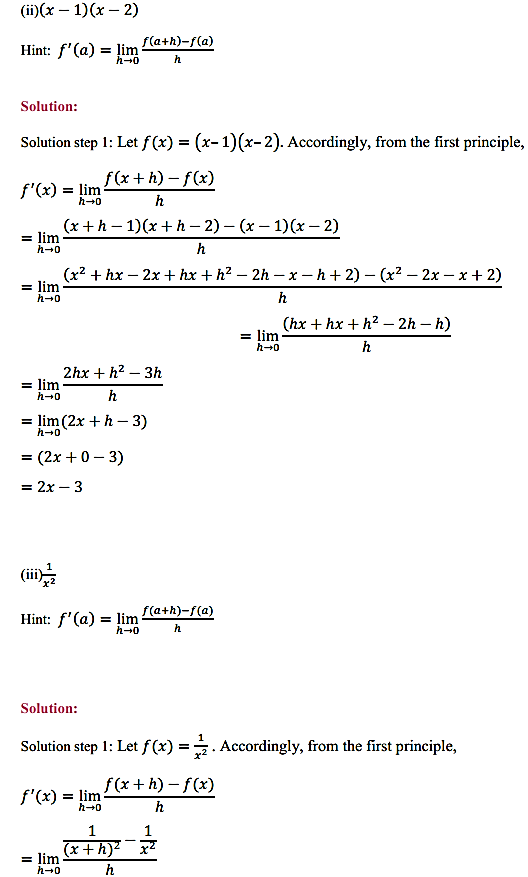 NCERT Solutions for Class 11 Maths Chapter 13 Limits and Derivatives Ex 13.2 4