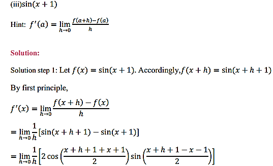 NCERT Solutions for Class 11 Maths Chapter 13 Limits and Derivatives Miscellaneous Exercise 3