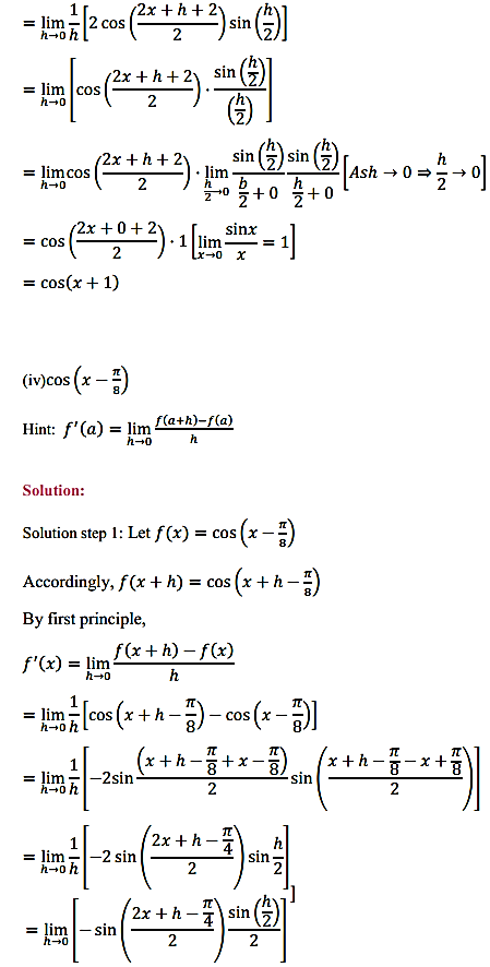 NCERT Solutions for Class 11 Maths Chapter 13 Limits and Derivatives Miscellaneous Exercise 4