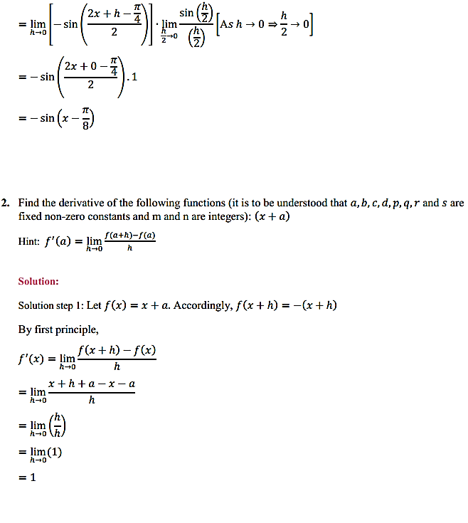 NCERT Solutions for Class 11 Maths Chapter 13 Limits and Derivatives Miscellaneous Exercise 5