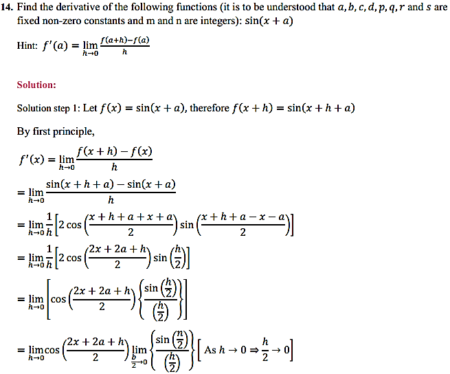 NCERT Solutions for Class 11 Maths Chapter 13 Limits and Derivatives Miscellaneous Exercise 19